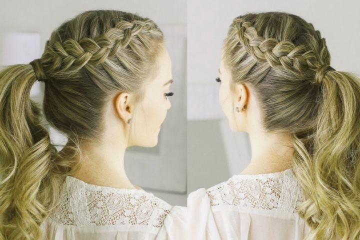 Braids with ponytail